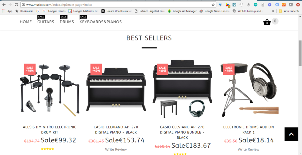 Musictis.com website, note the incredible resemblance to the other website, eumusic.co.uk